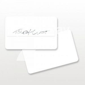Zebra Blank PVC Card w/Signature Panel, 0,76 mm